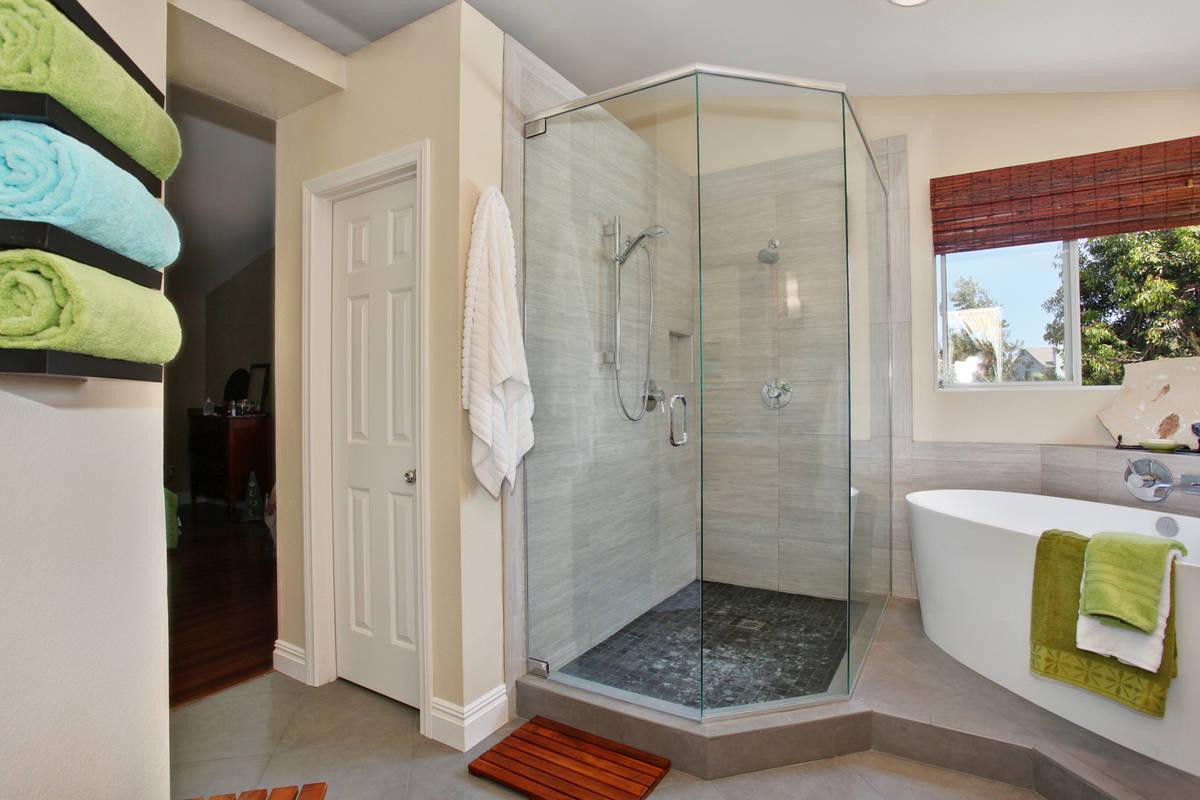Comtemporary Master Bath Shower Remodel South Land